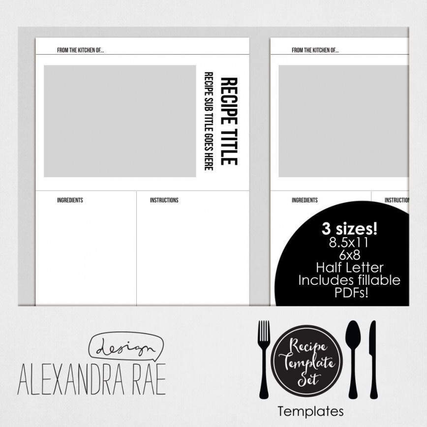 004 Awesome Create Your Own Cookbook Template Idea  Free868