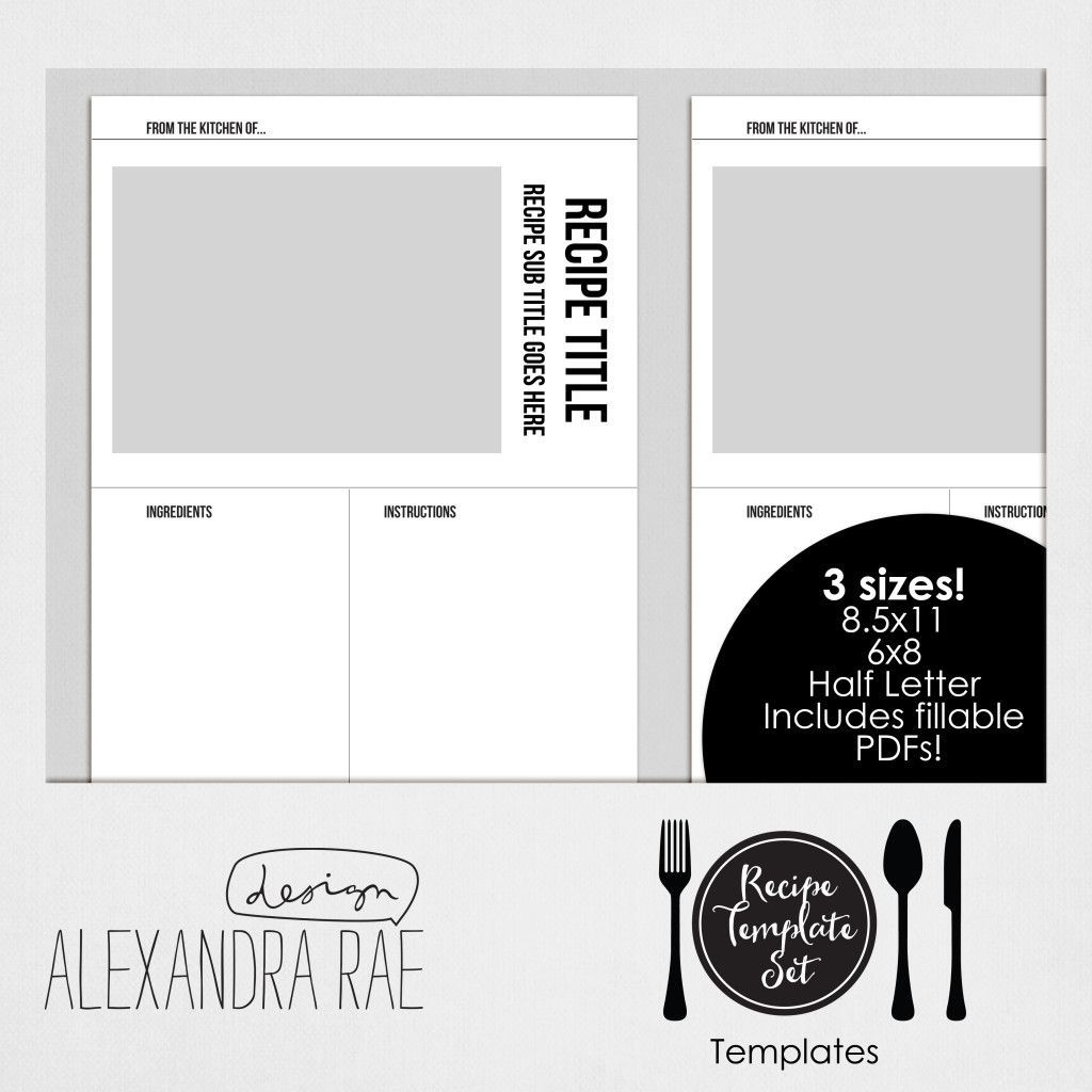 004 Awesome Create Your Own Cookbook Template Idea  FreeFull