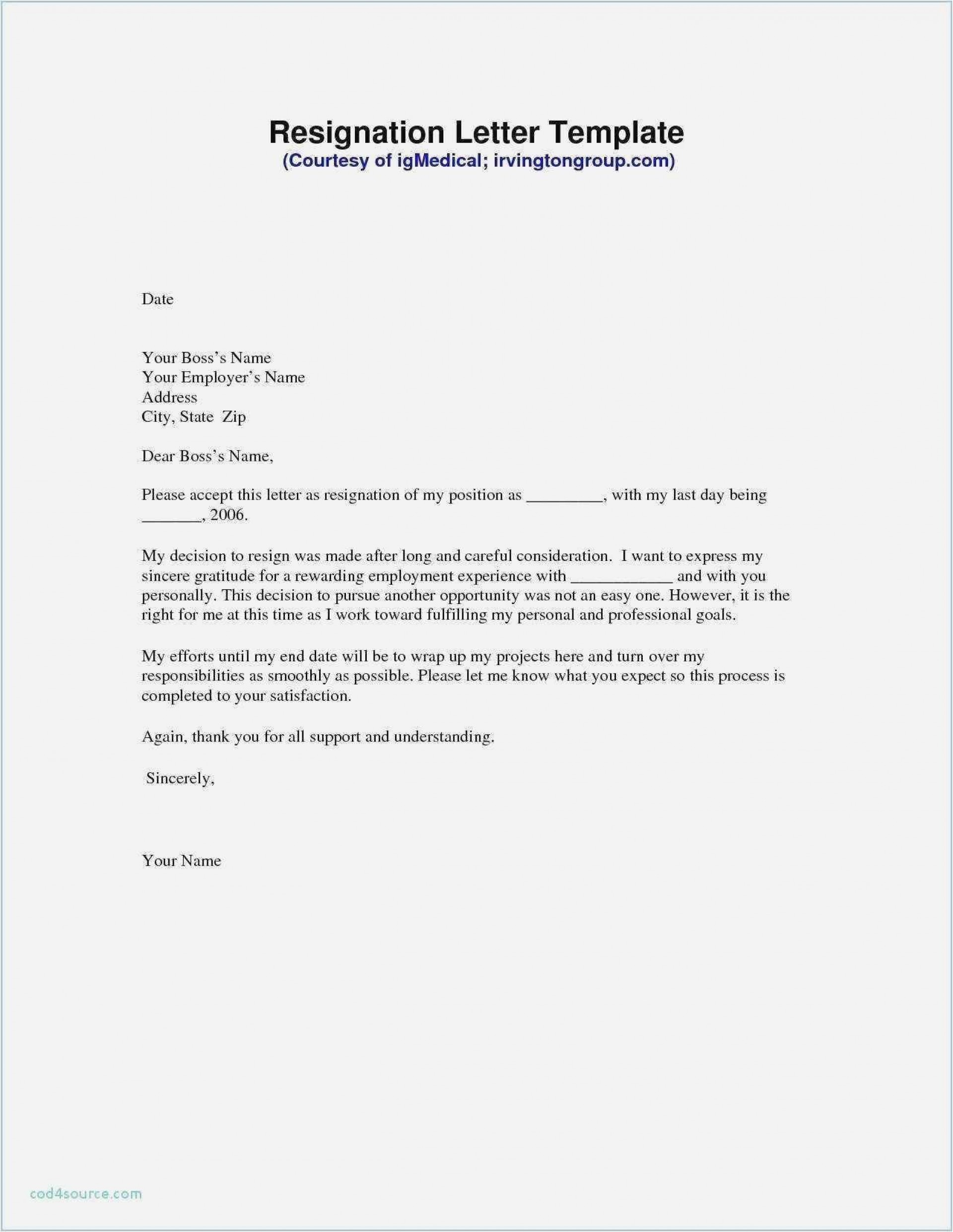 Formal Resign Letter Template Addictionary