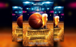 004 Awesome Free Basketball Flyer Template Idea  Tryout Event Word