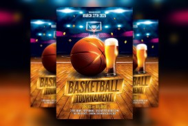 004 Awesome Free Basketball Flyer Template Idea  Game 3 On Tournament Word