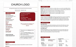 004 Awesome Free Church Bulletin Template Word Concept  Program For