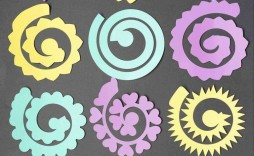 004 Awesome Free Rolled Paper Flower Template For Cricut Sample
