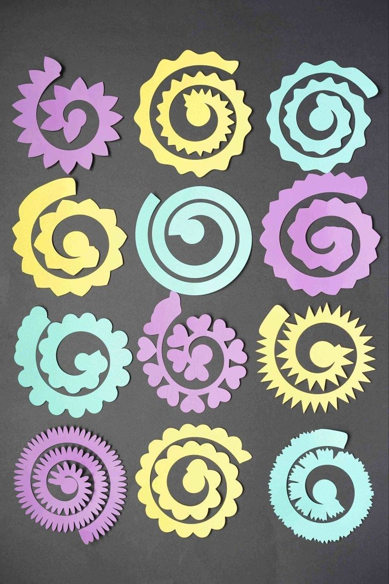 004 Awesome Free Rolled Paper Flower Template For Cricut Sample Full