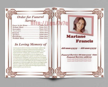 004 Awesome Funeral Program Template Free High Resolution  Printable Design360