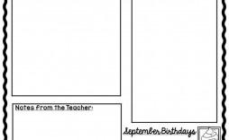 004 Awesome Google Newsletter Template For Teacher Image  Teachers Free