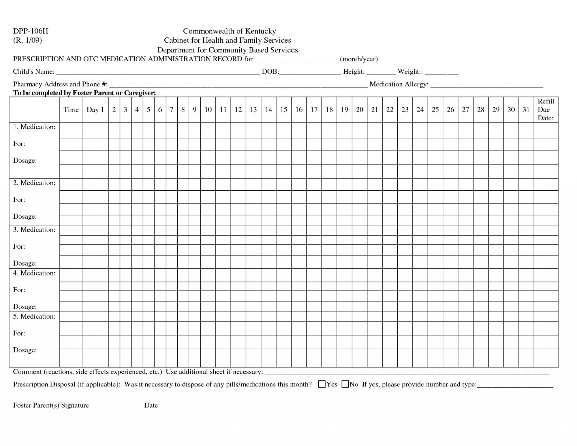 004 Awesome Medication Administration Record Template Photo  Download For Home Use1920