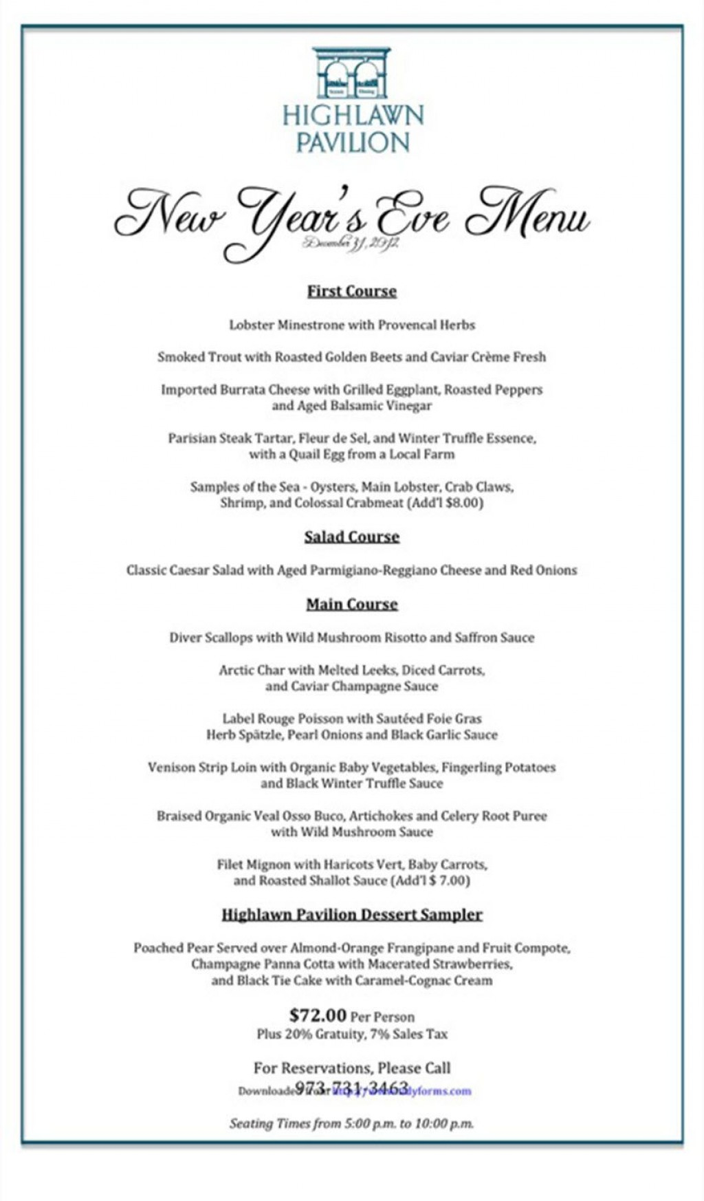004 Awesome Menu Template Free Download Word Design  Dinner Party WeddingLarge