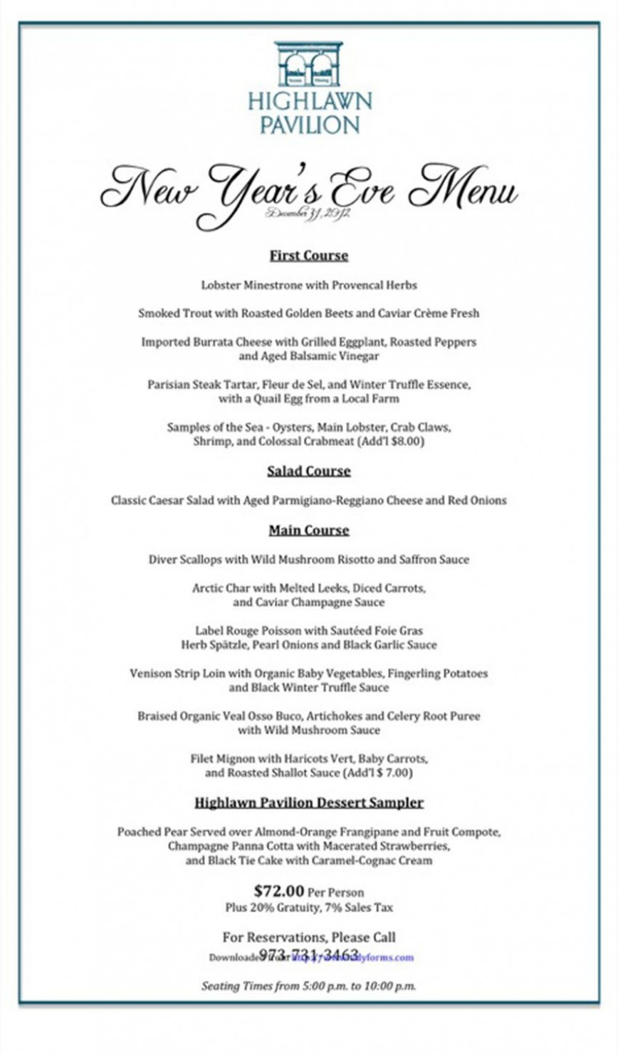 004 Awesome Menu Template Free Download Word Design  Dinner Party Restaurant