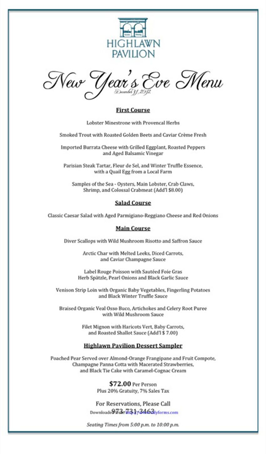 004 Awesome Menu Template Free Download Word Design  Dinner Party WeddingFull