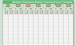 004 Awesome Multiple Employee Timesheet Template Picture  Schedule Job Excel