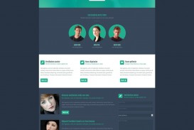 004 Awesome One Page Website Template Free Download Html5 High Definition  Parallax