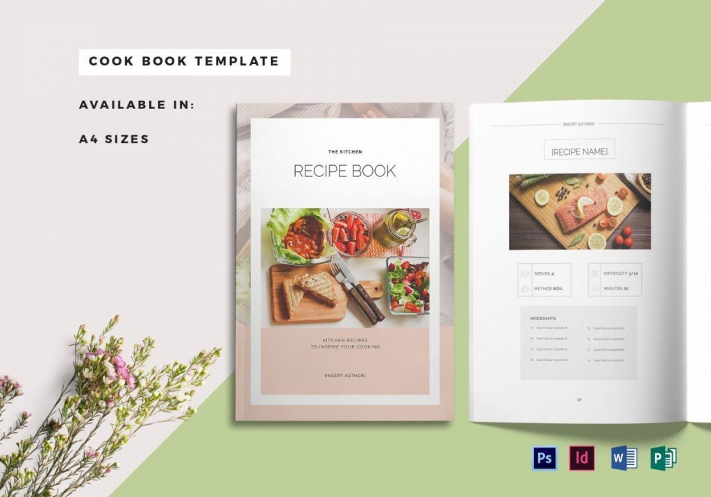 004 Awesome Recipe Book Template Word High Resolution  Mac Free MicrosoftLarge
