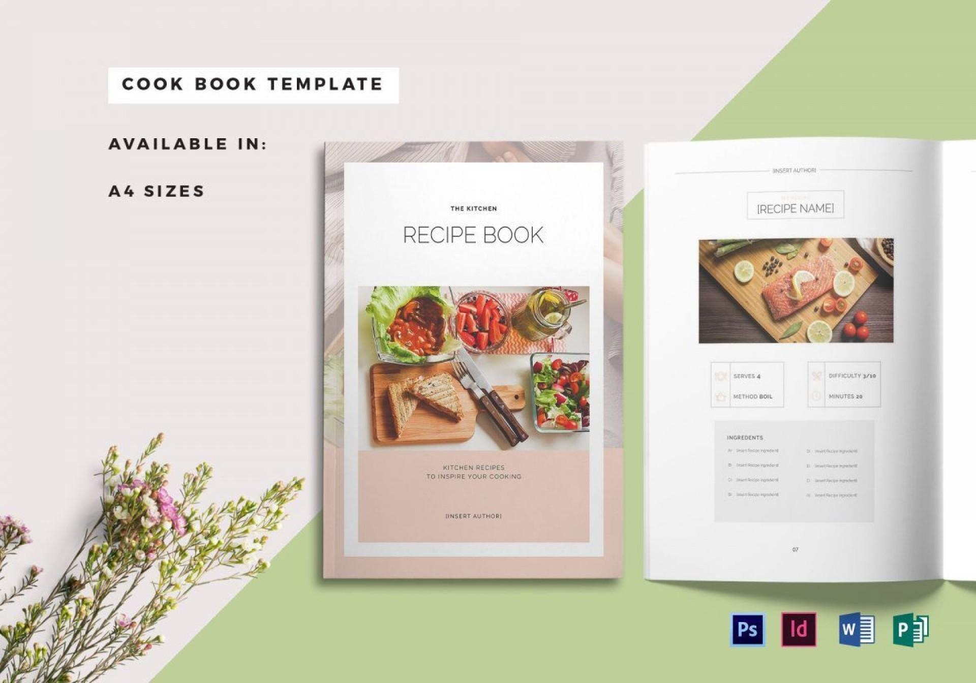 004 Awesome Recipe Book Template Word High Resolution  Mac Free Microsoft1920