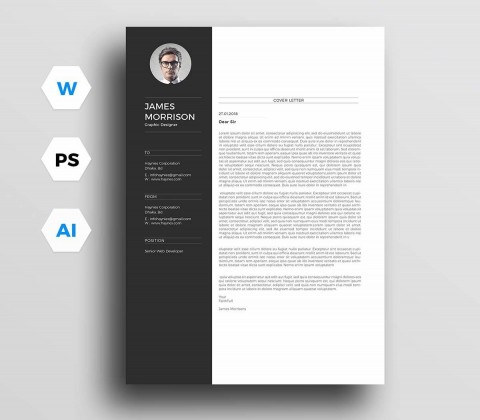 004 Awesome Resume Cover Letter Template Free Highest Clarity  Simple Online Microsoft480