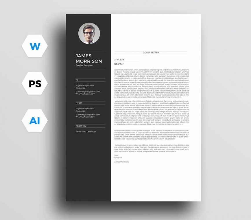 004 Awesome Resume Cover Letter Template Free Highest Clarity  Simple Online Microsoft868