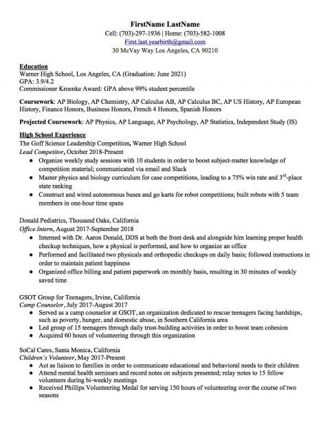 004 Awesome Resume Template High School Design  Student Australia For Google Doc Graduate Microsoft Word480