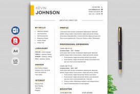004 Awesome Resume Template M Word 2020 Concept  Free Microsoft