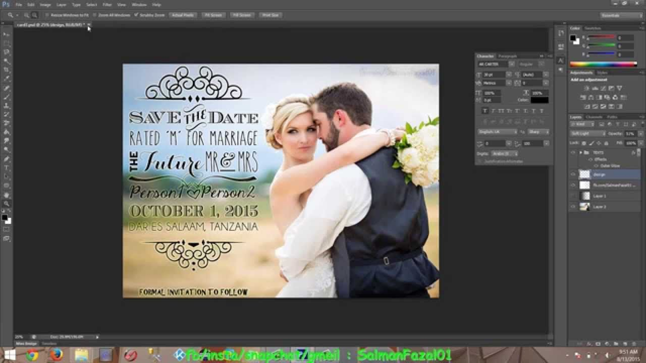 004 Awesome Save The Date Template Photoshop Inspiration  Adobe CardFull