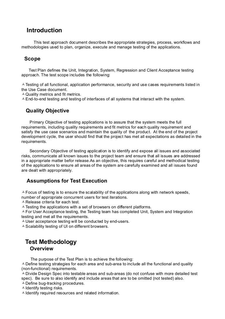 004 Awesome Simple Application Test Plan Template Inspiration  Word Software ExcelFull