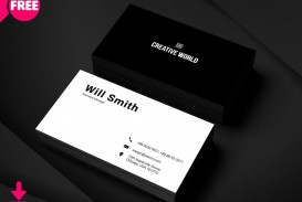004 Awesome Simple Busines Card Template Psd Design  In Photoshop Minimalist Free