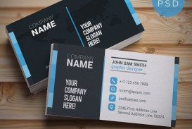 004 Awesome Simple Visiting Card Design Free Download Photo  Busines Psd File