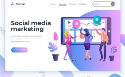 004 Awesome Social Media Marketing Template Highest Quality  Pdf Website Free Download Calendar 2020