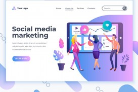 004 Awesome Social Media Marketing Template Highest Quality  Free Wordpres Ppt