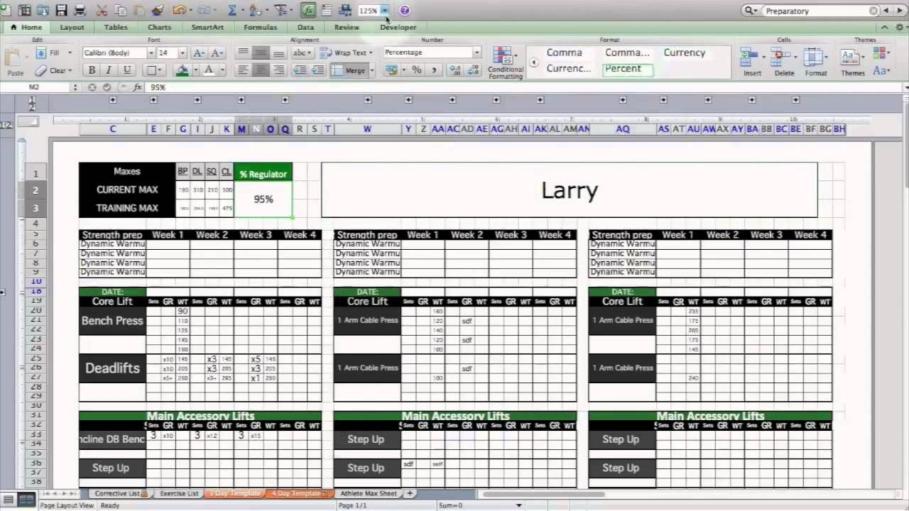 004 Awesome Workout Schedule Template Excel Inspiration  Training Plan Download Weekly PlannerFull