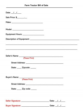 004 Awful Bill Of Sale Template Design  Pdf Dmv Machinery320