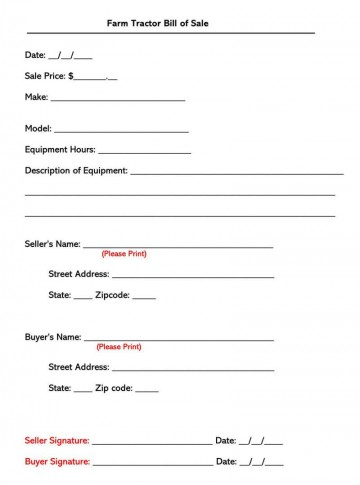 004 Awful Bill Of Sale Template Design  Pdf Dmv Machinery360