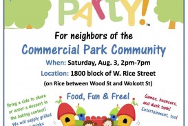 004 Awful Block Party Flyer Template Sample  Free
