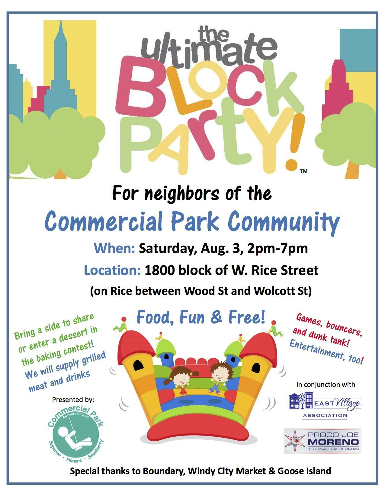 004 Awful Block Party Flyer Template Sample  Templates FreeFull