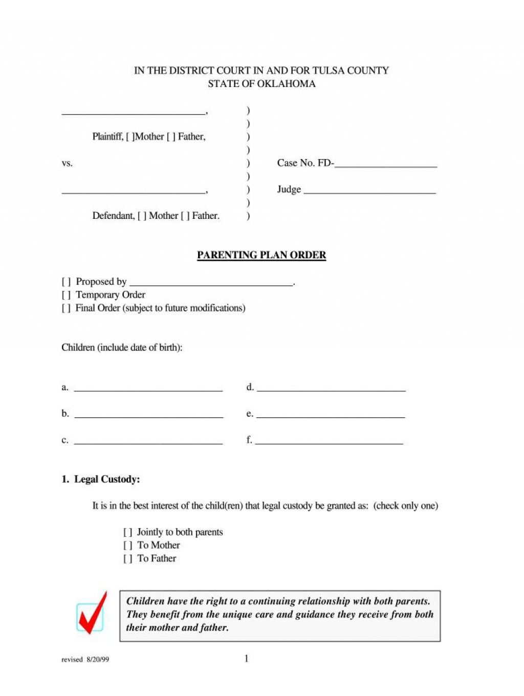 004 Awful Child Custody Agreement Template Concept  Texa Nc Visitation UkLarge