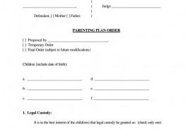 004 Awful Child Custody Agreement Template Concept  Texa Nj Uk