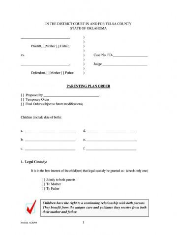 004 Awful Child Custody Agreement Template Concept  Texa Nj Uk360
