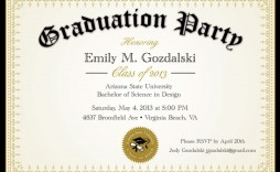 004 Awful College Graduation Party Invitation Template Highest Quality  Templates
