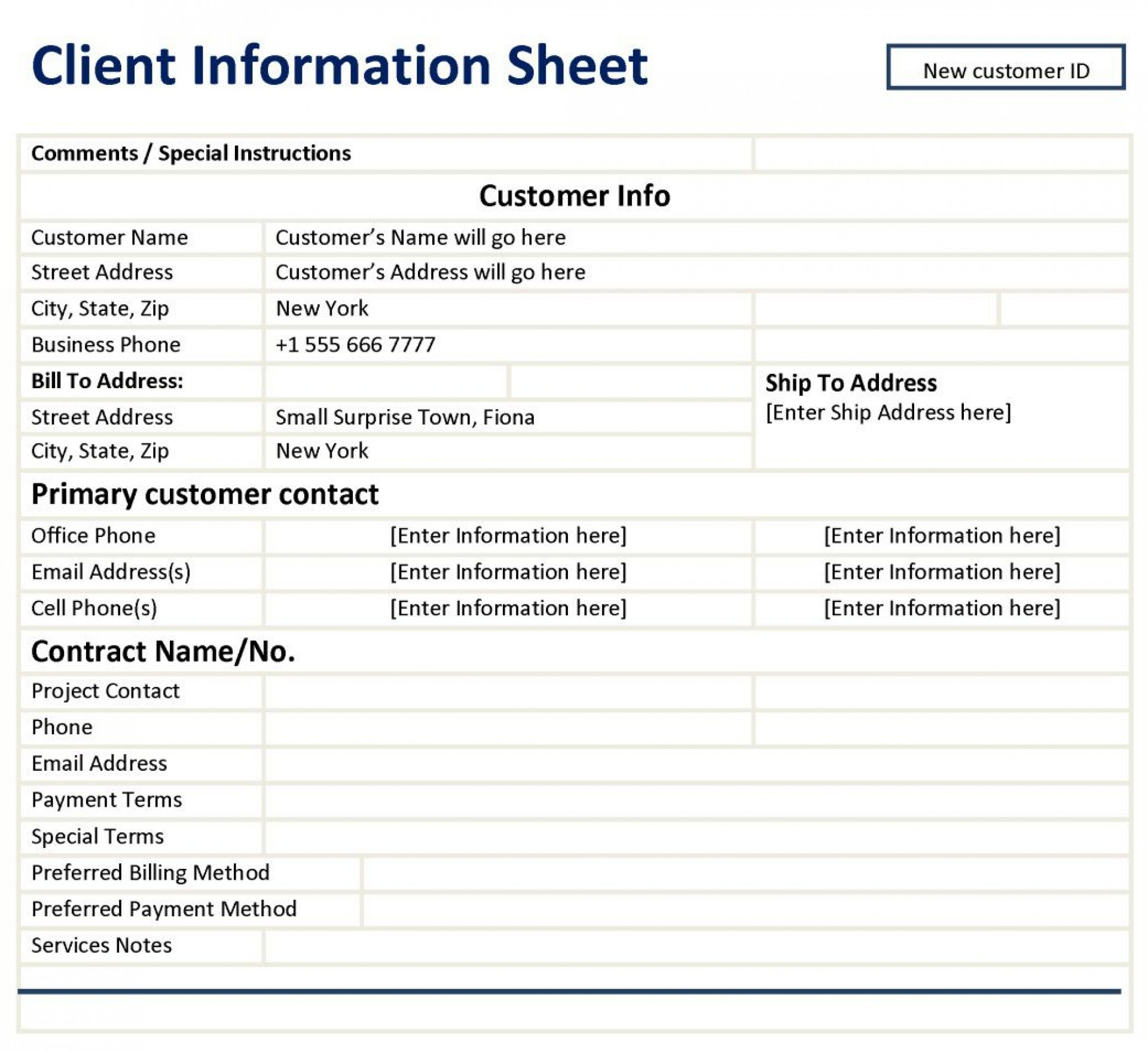 004 Awful Customer Information Sheet Template Highest Quality  New Info Excel Spreadsheet1920