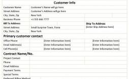 004 Awful Customer Information Sheet Template Highest Quality  New Info Excel Spreadsheet
