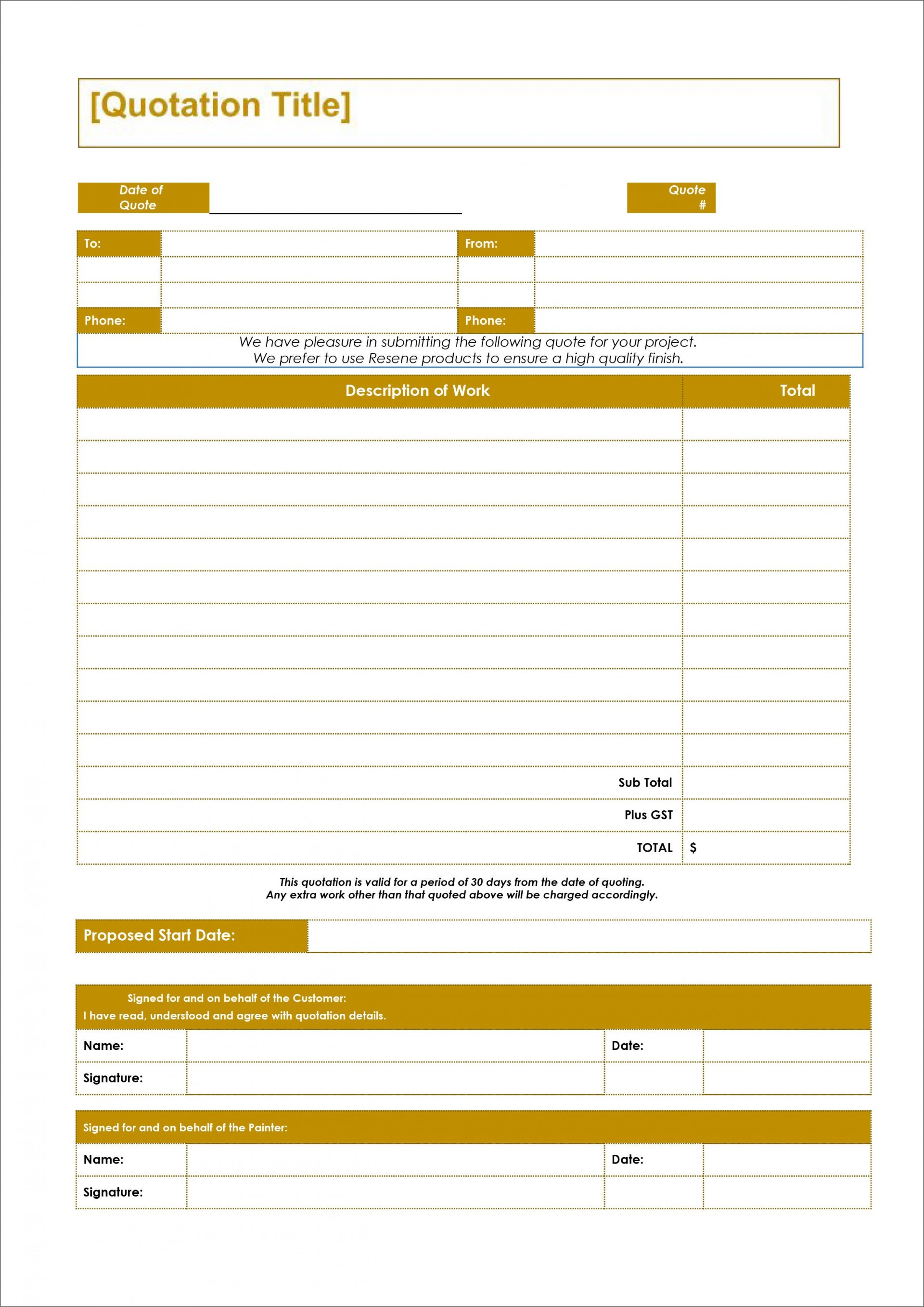 004 Awful Free Estimate Template Word High Definition  Microsoft Contractor1920