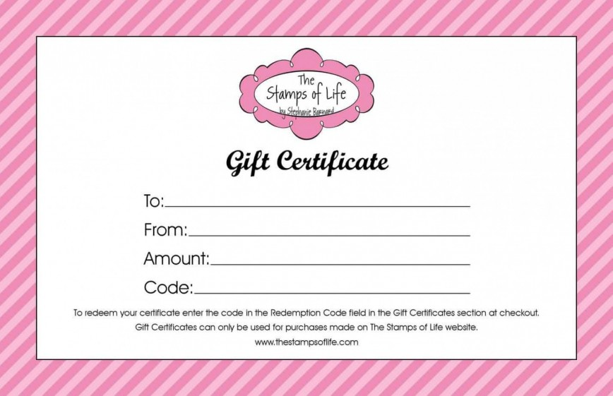 004 Awful Free Printable Template For Gift Certificate Example  Voucher868