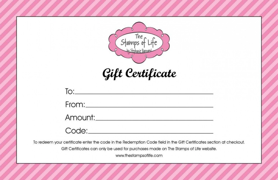004 Awful Free Printable Template For Gift Certificate Example  Voucher960
