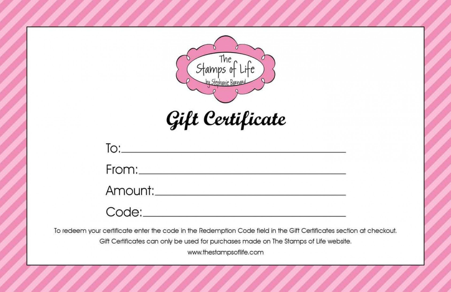 004 Awful Free Printable Template For Gift Certificate Example  VoucherFull