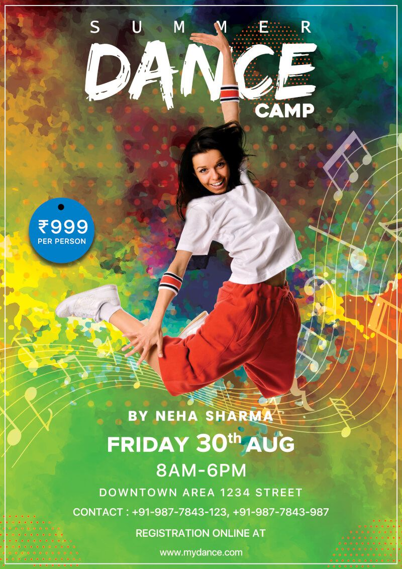 004 Awful Free School Disco Flyer Template Design  Templates PosterFull