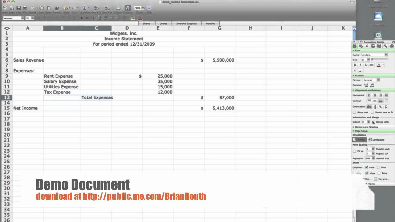 004 Awful Income Statement Format In Excel With Formula Concept Full