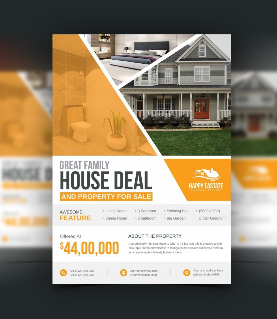 004 Awful Open House Flyer Template Highest Clarity  Word Free School Microsoft960