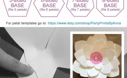 004 Awful Paper Rose Template Pdf Sample  Flower Giant Free Crepe