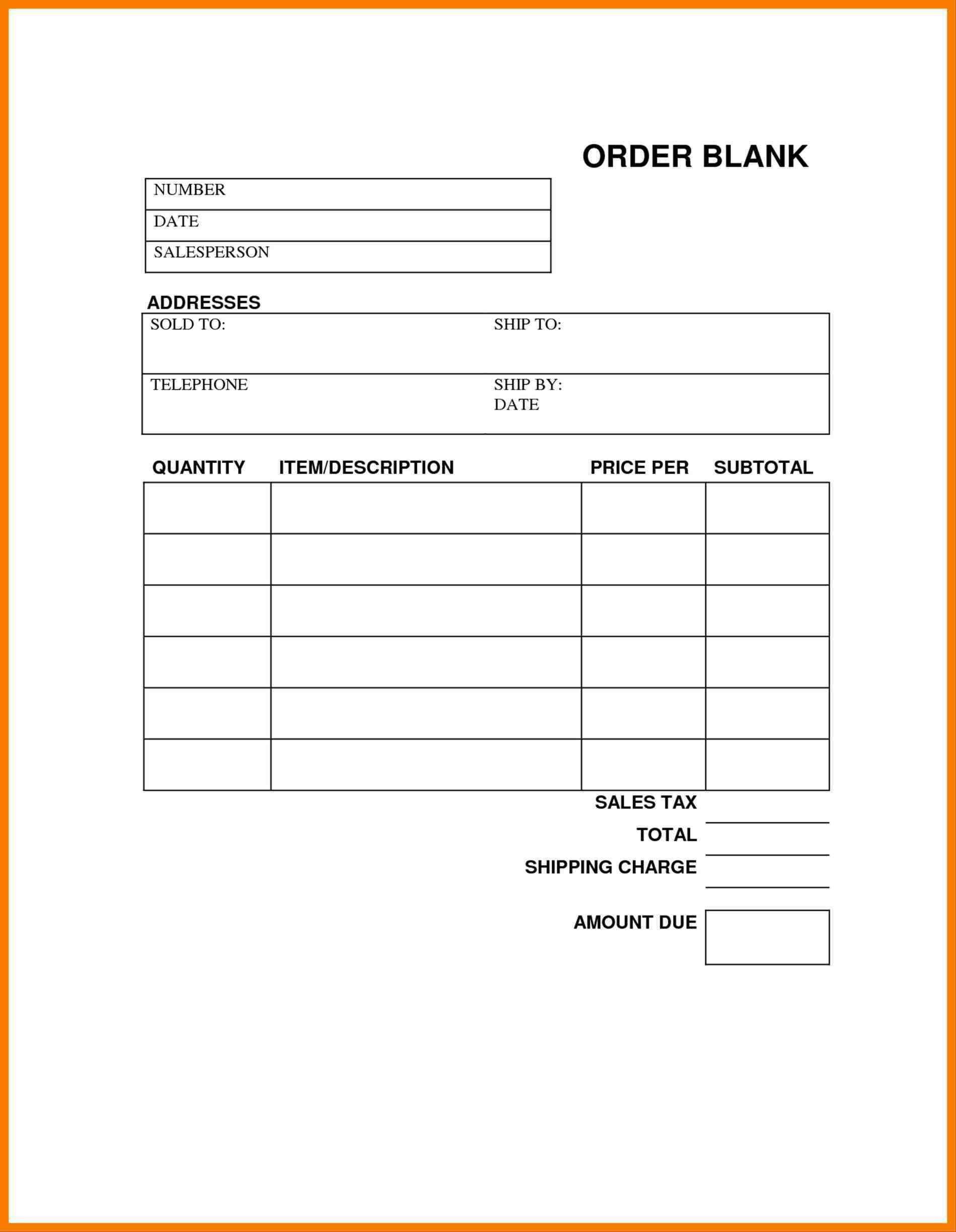 004 Awful Printable Order Form Template High Resolution  Templates Fundraiser Food CakeFull
