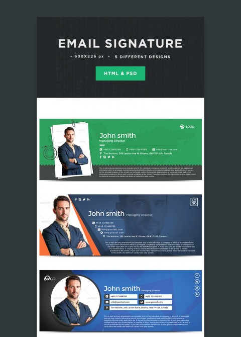 004 Awful Professional Email Signature Template Picture  Busines Download480
