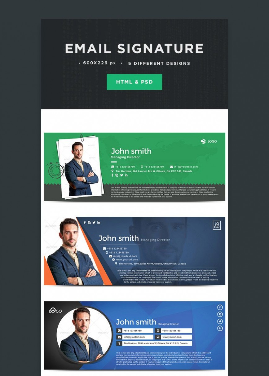 004 Awful Professional Email Signature Template Picture  Templates Download Example Busines